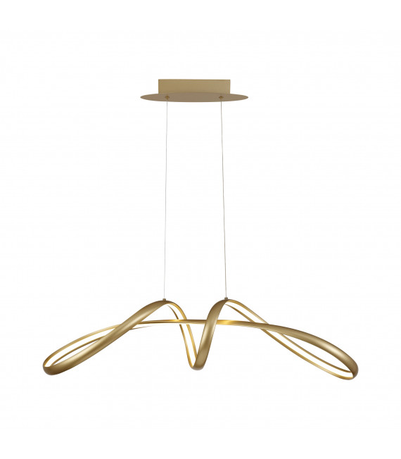 Suspension design Apia 1 Ampoule Doré sablé 50 Cm