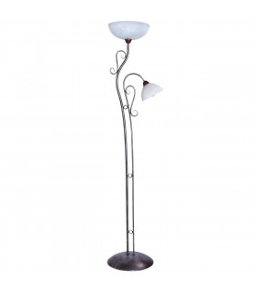Lampadaire marron Country 2 ampoules 170 Cm