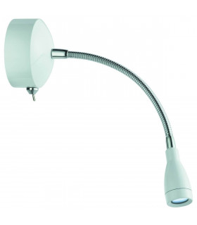 Applique/liseuse LED, chrome et blanc