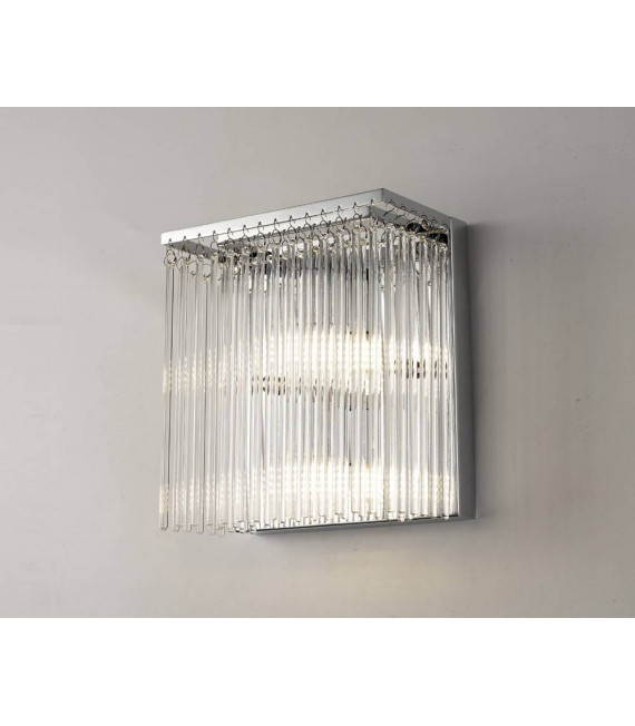 Applique murale Zanthe 3 Ampoules chrome poli/verre transparent