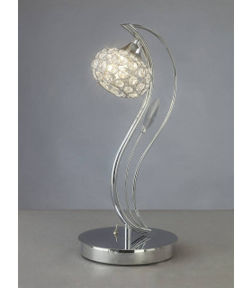 Lampe de Table Leimo 1 Ampoule chrome poli/cristal