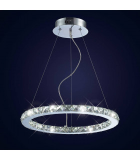 Suspension Galaxy rond Small 27W LED 6000K chrome poli/cristal