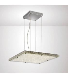 Suspension Amelia 44W 4400lm LED 4000K Stainless Steel/cristal