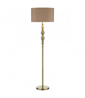 Lampadaire Madrid laiton antique 1 ampoule