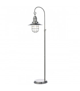 Lampadaire Terrace chrome antique et verre 1 ampoule