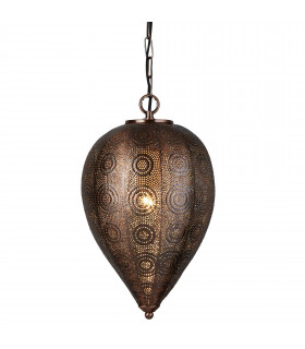 Suspension Moroccan, en cuivre antique