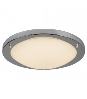 Plafonnier 41 cm Led Flush, en chrome et verre