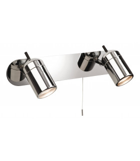 Applique 2 ampoules Atlantic, chrome